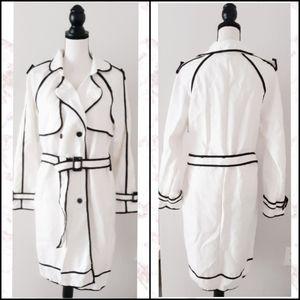 NWT Fleece Trench Coat